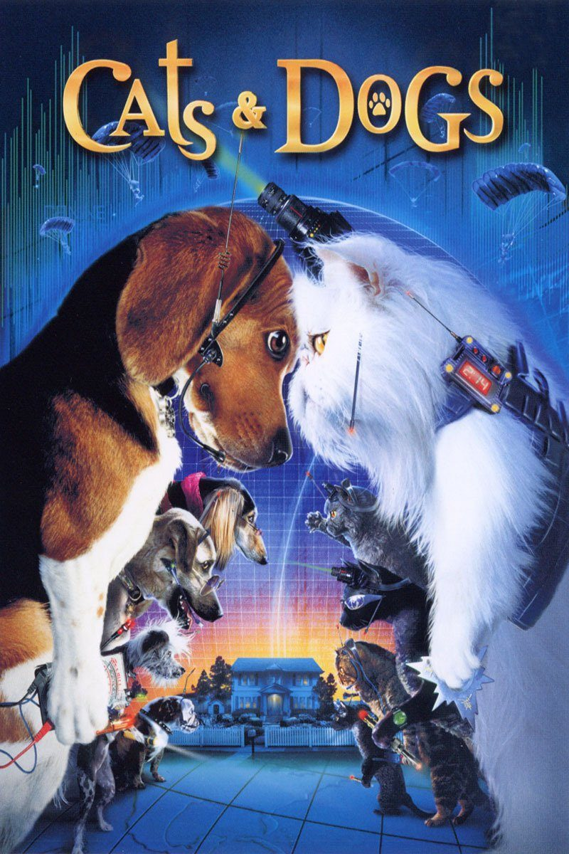 "Poster for the movie ""Cats & Dogs"""