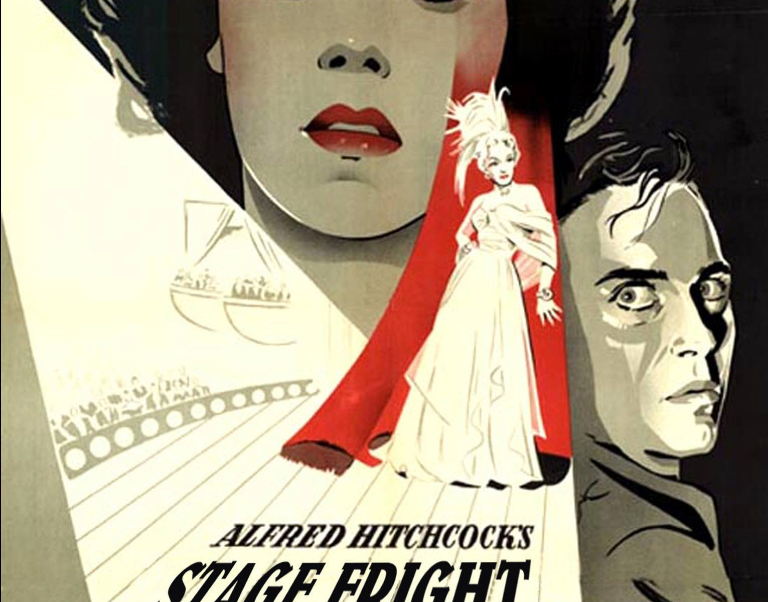 "Poster for the movie ""Stage Fright"""