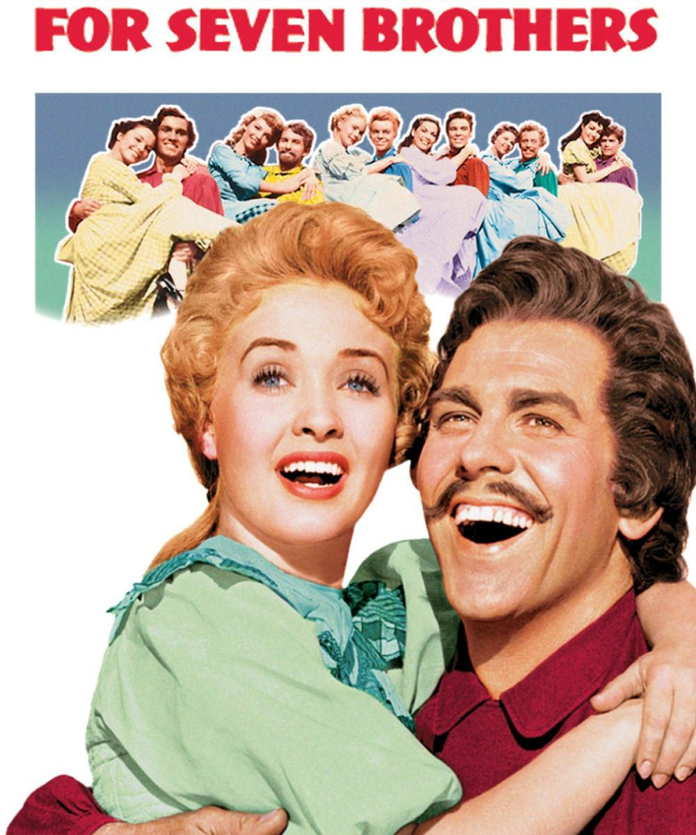 "Poster for the movie ""Seven Brides for Seven Brothers"""