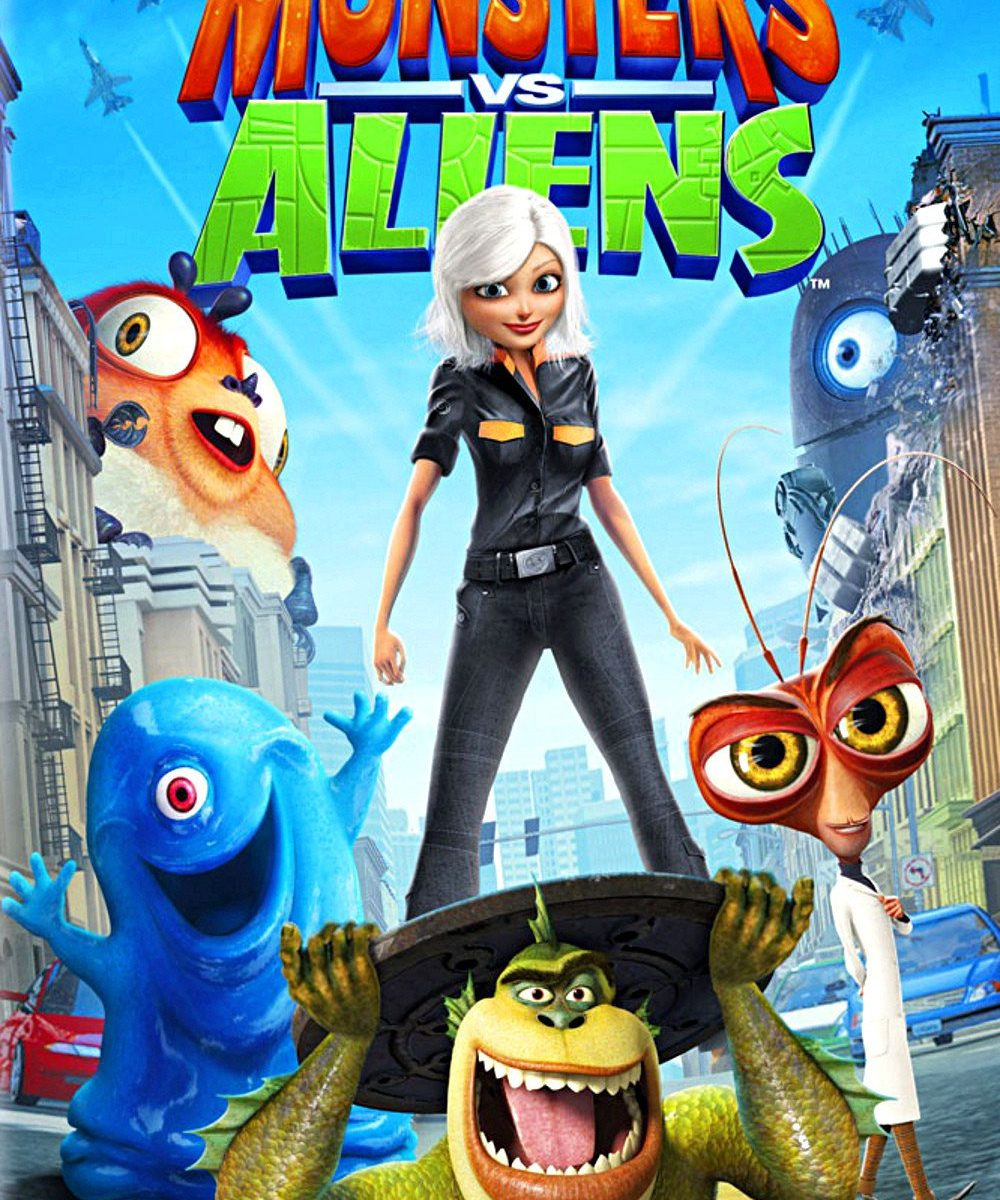 "Poster for the movie ""Monsters vs Aliens"""