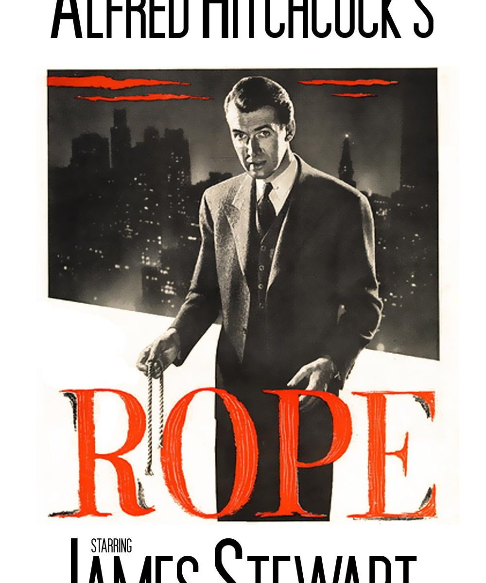 "Poster for the movie ""Rope"""