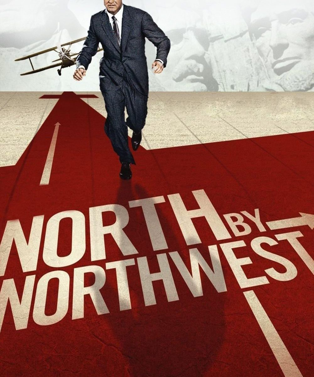 "Poster for the movie ""North by Northwest"""