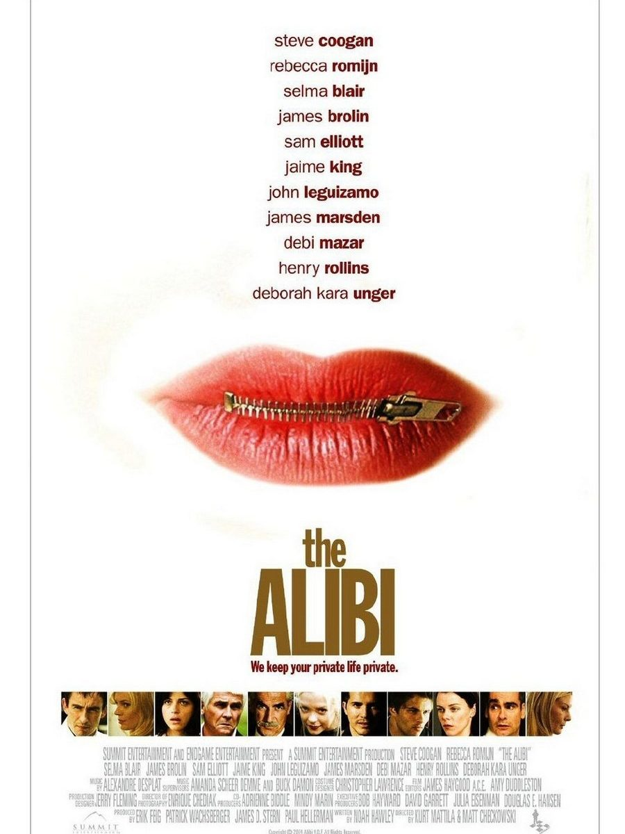"Poster for the movie ""The Alibi"""