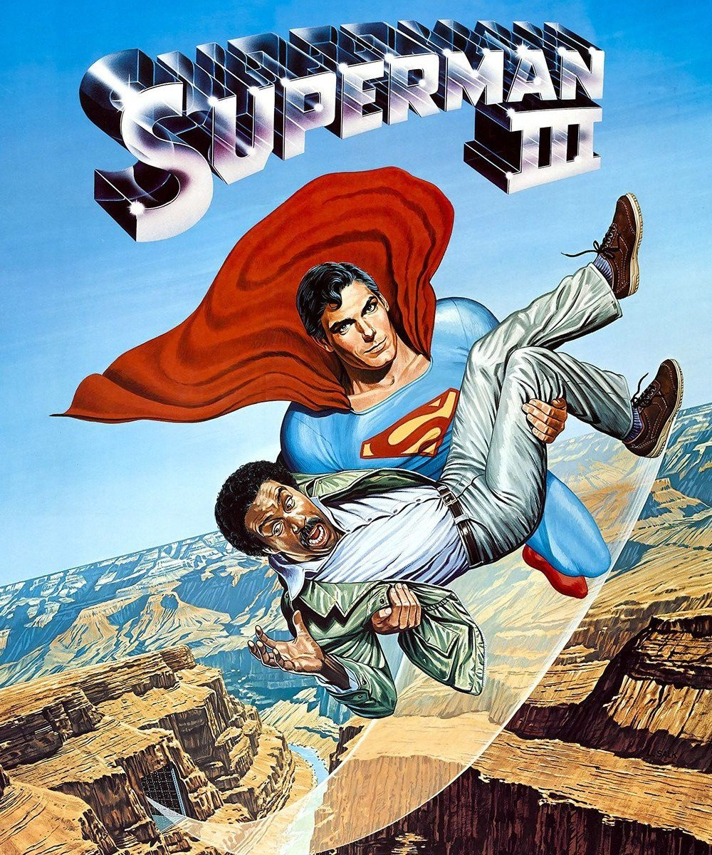 "Poster for the movie ""Superman III"""