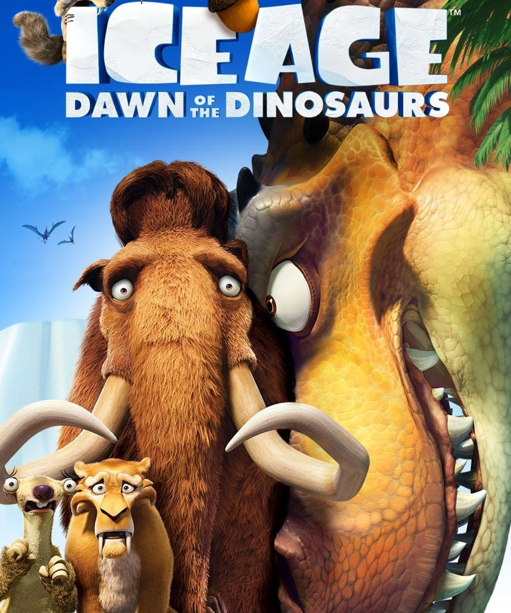 "Poster for the movie ""Ice Age: Dawn of the Dinosaurs"""
