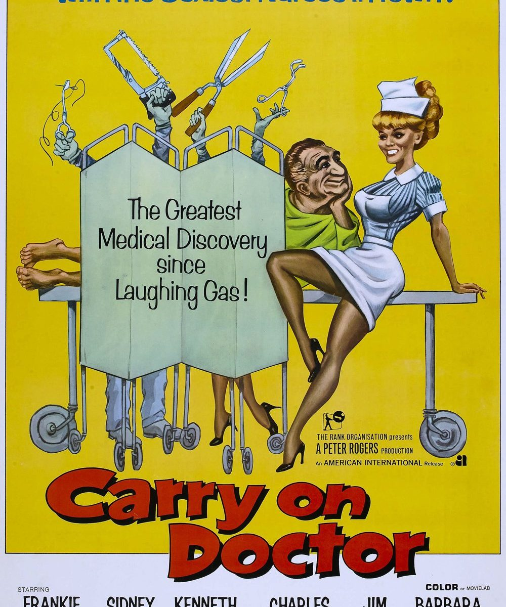"Poster for the movie ""Carry On Doctor"""