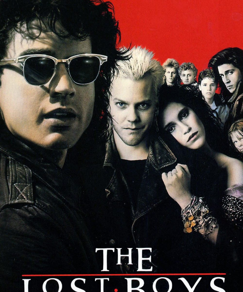 "Poster for the movie ""The Lost Boys"""