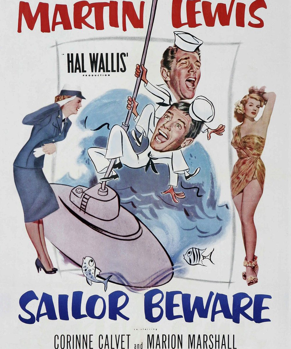 "Poster for the movie ""Sailor Beware"""