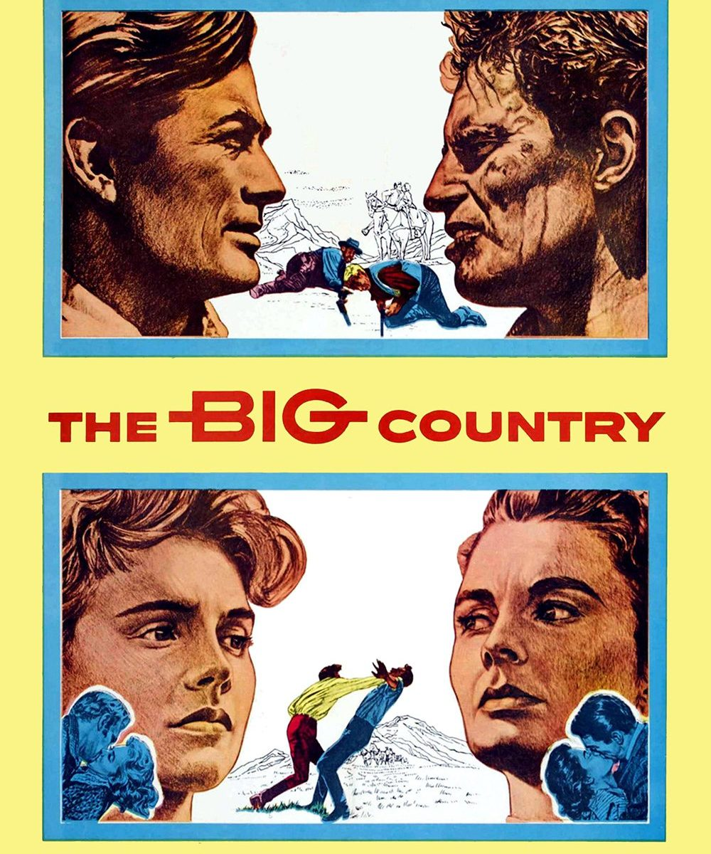 "Poster for the movie ""The Big Country"""