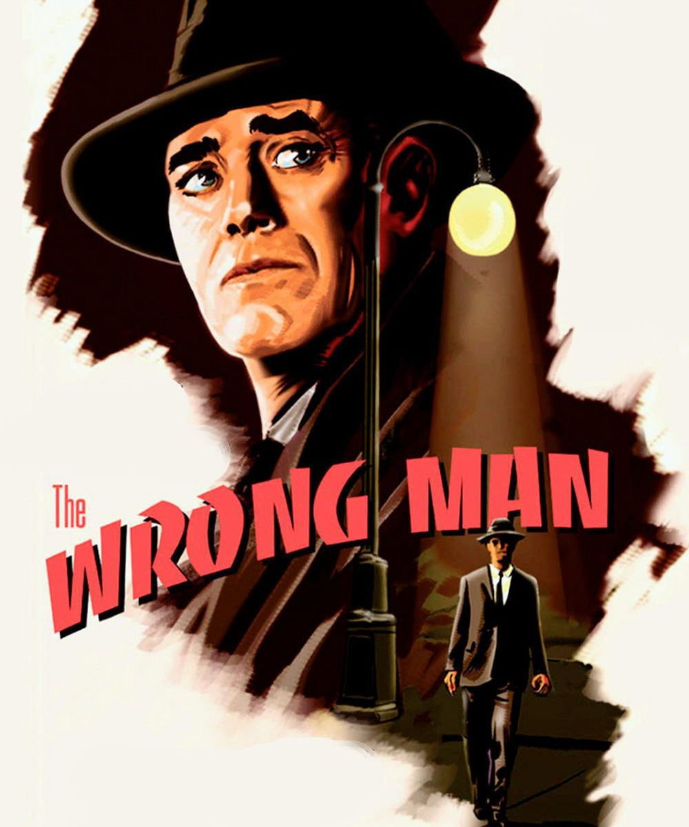 "Poster for the movie ""The Wrong Man"""
