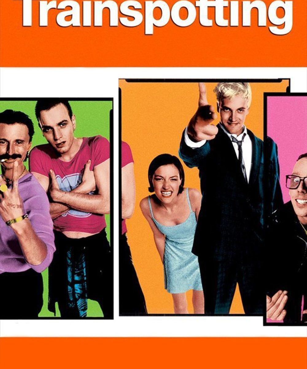 "Poster for the movie ""Trainspotting"""