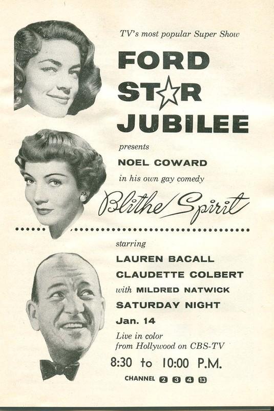 """Poster for the movie """"Blithe Spirit"""""""