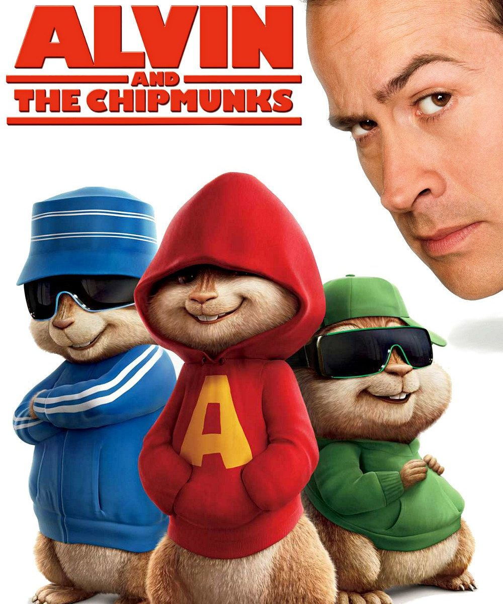"Poster for the movie ""Alvin and the Chipmunks"""