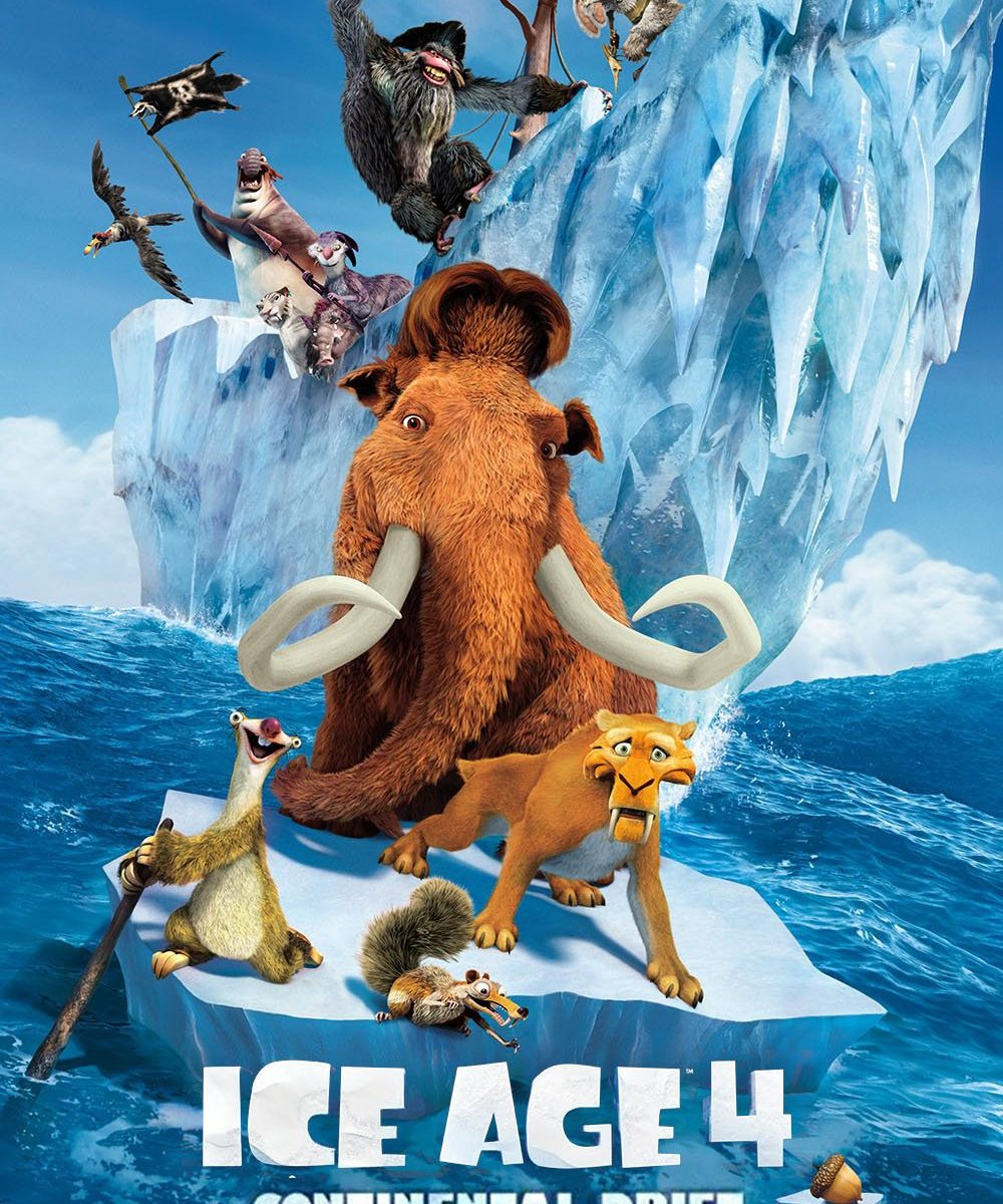 "Poster for the movie ""Ice Age: Continental Drift"""