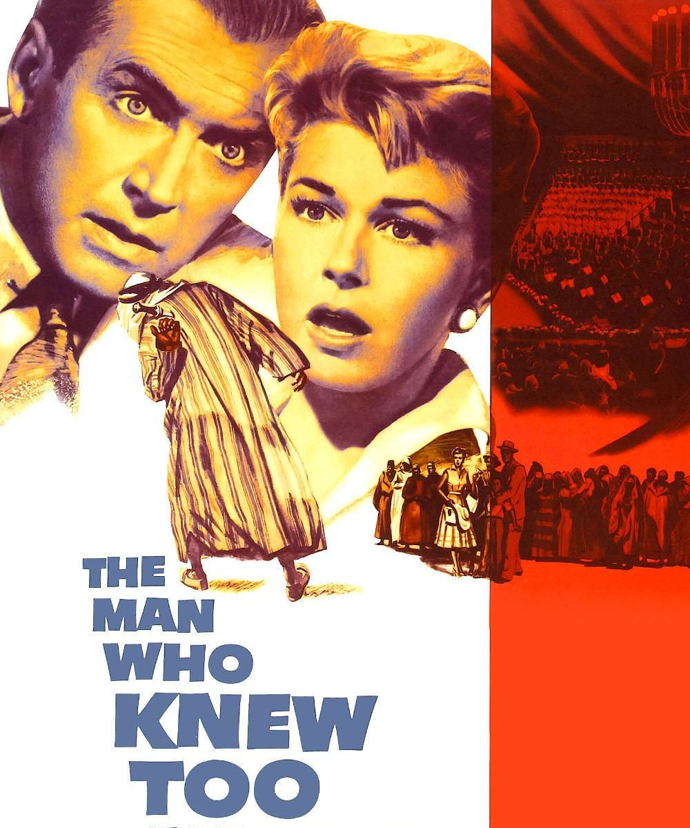 "Poster for the movie ""The Man Who Knew Too Much"""