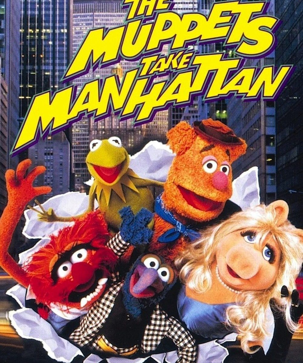 "Poster for the movie ""The Muppets Take Manhattan"""